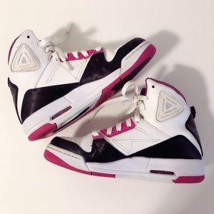 Jordan Shoes - Air Jordan Flight pink white and black